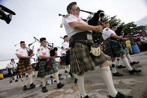 San Antonio Pipes and Drums will take part in the Texas Folklife Festival's opening parade on Friday.
