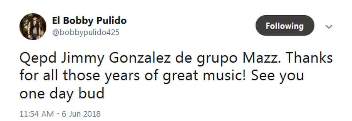 Bobb Puldido: Qepd Jimmy Gonzalez de grupo Mazz. Thanks for all those years of great music! See you one day bud
