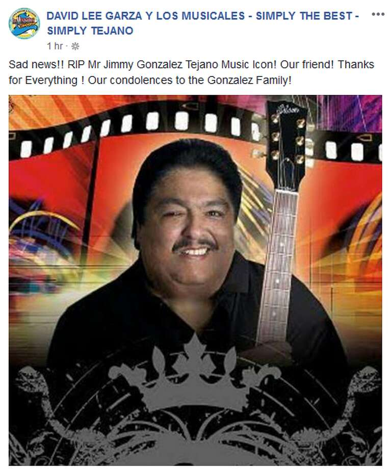 David Lee Garza y Los Musicales: Sad news!! RIP Mr Jimmy Gonzalez Tejano Music Icon! Our friend! Thanks for Everything ! Our condolences to the Gonzalez Family! Photo: Facebook, Twitter Screengrabs