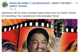 David Lee Garza y Los Musicales: Sad news!! RIP Mr Jimmy Gonzalez Tejano Music Icon! Our friend! Thanks for Everything ! Our condolences to the Gonzalez Family!