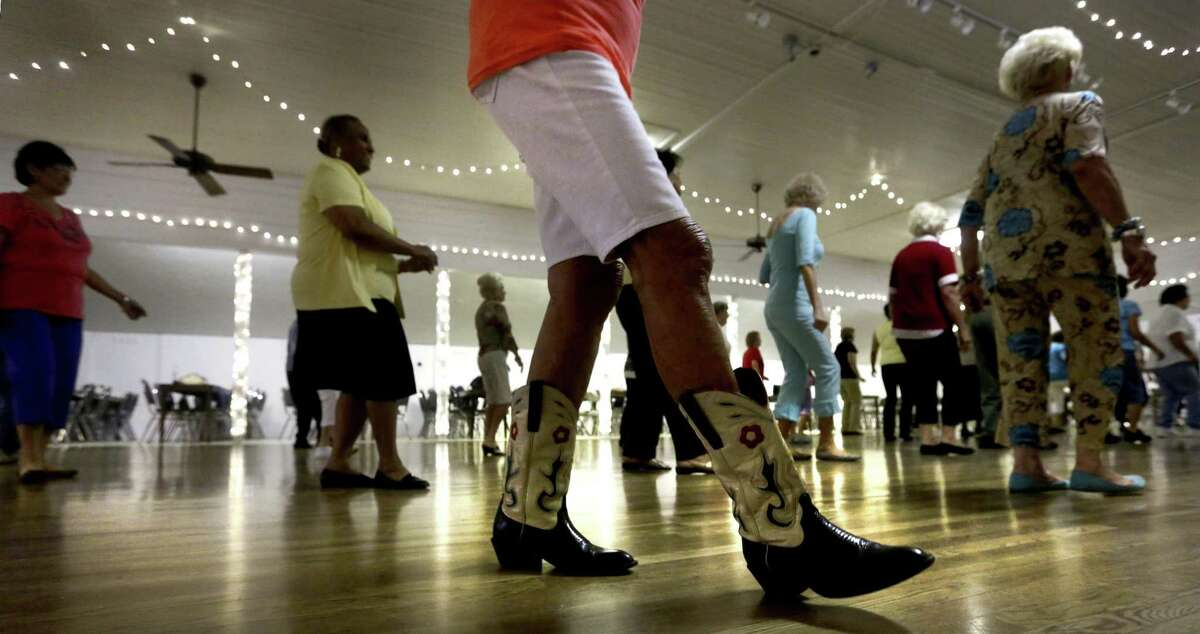 Line Dance class at Braun Hall on Friday, July, 26, 2013.