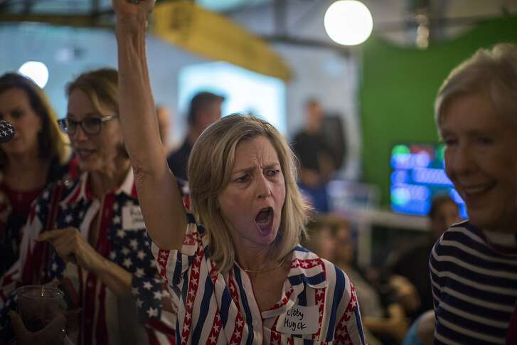 COSTA MESA, CA - JUNE 05: Supporters attend the Republican Rep. Dana Rohrabacher, 48th District, election night party at his campaign headquarters on June 5, 2018 in Costa Mesa, California. California could play a determining role in upsetting Republican control the U.S. Congress. Democrats hope to win 10 of the 14 seats held by Republicans.   (Photo by David McNew/Getty Images)