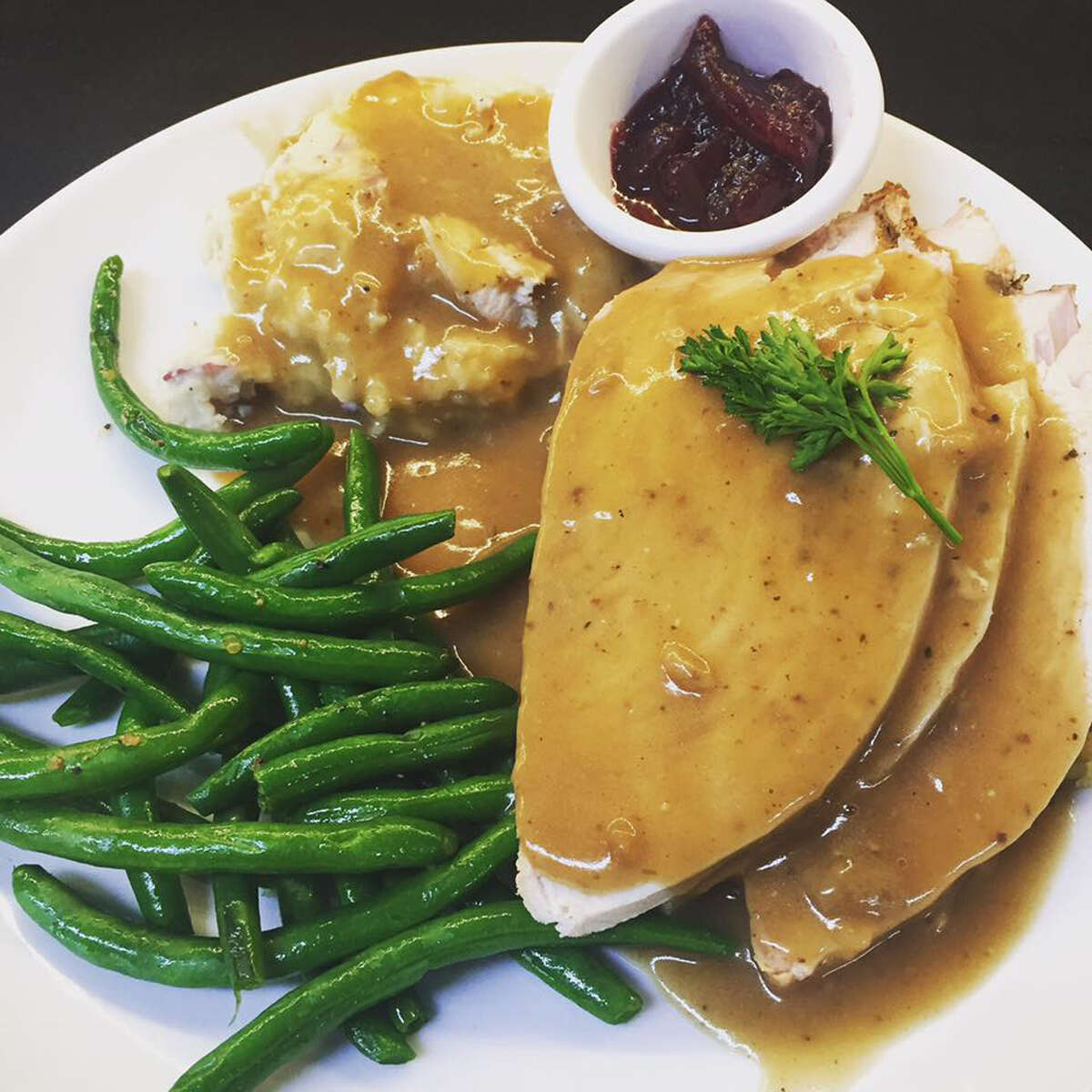 Readers' favorite dishes from Saratoga Springs restaurants: Classic turkey dinner at Olde Bryan Inn. (Provided photo.)