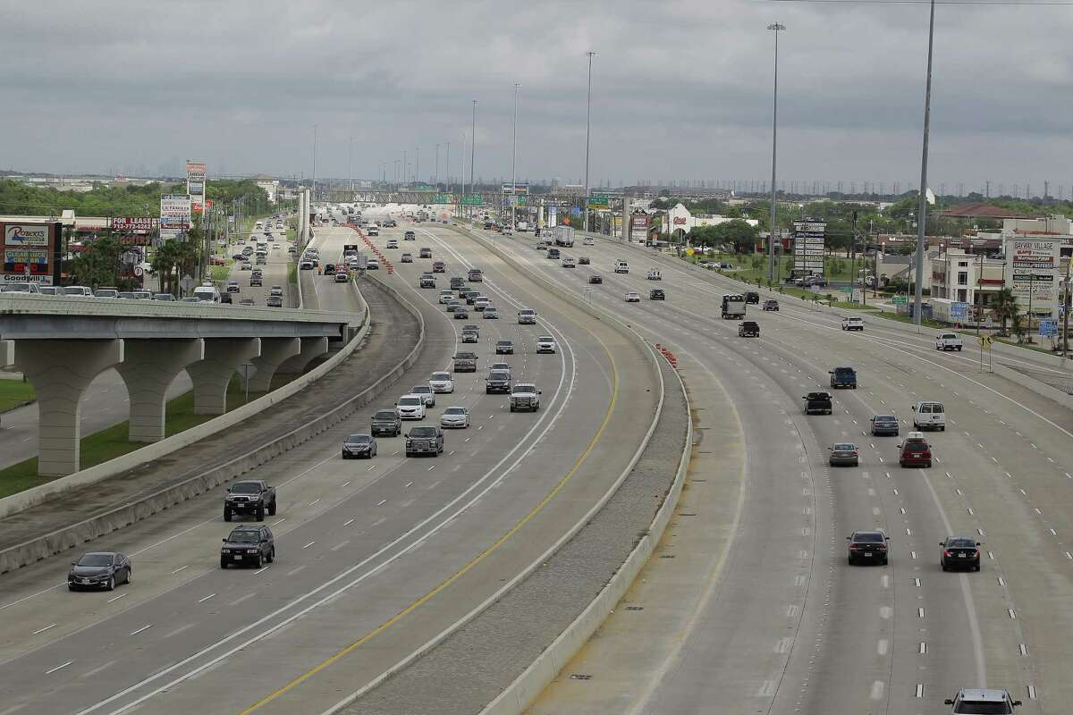A view of the completed phase of construction at an event noting completion of Interstate 45 at El Dorado and start of construction south from NASA 1 to FM 518 on June 1, 2017, in Clear Lake City.
