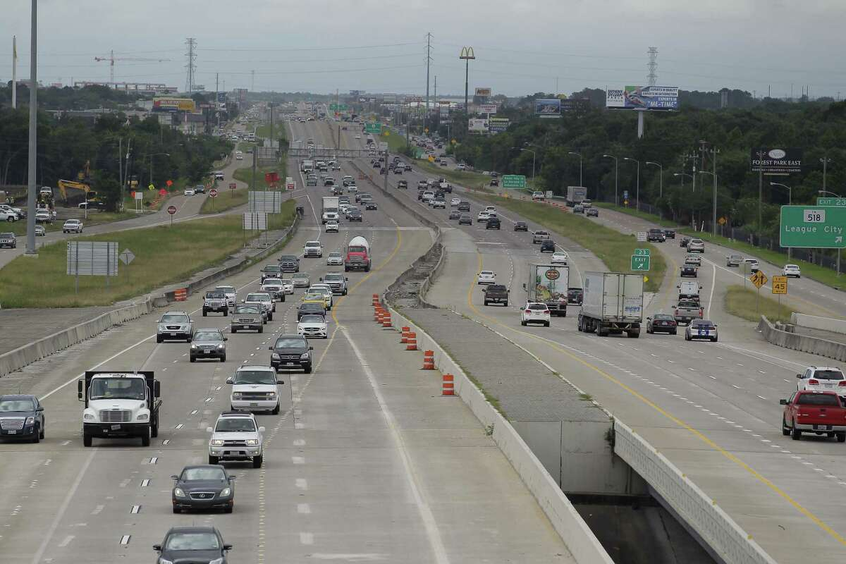 A view of the next phase of construction at an event noting completion of Interstate 45 at El Dorado and start of construction south from NASA 1 to FM 518 on June 1, 2017, in Clear Lake City.