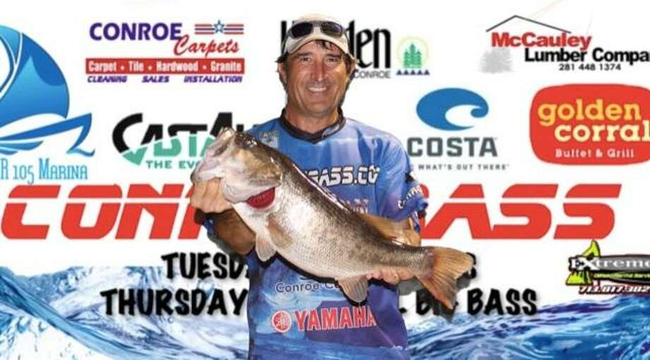 Robert Baney won the CONROEBASS Thursday Individual Big Bass Tournament with a big bass weighing 8.20 pounds. Photo: Conroe Bass