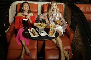 Sarah Adam Hafez, left, and Chiara Casiraghi are shown at iPic Theaters.