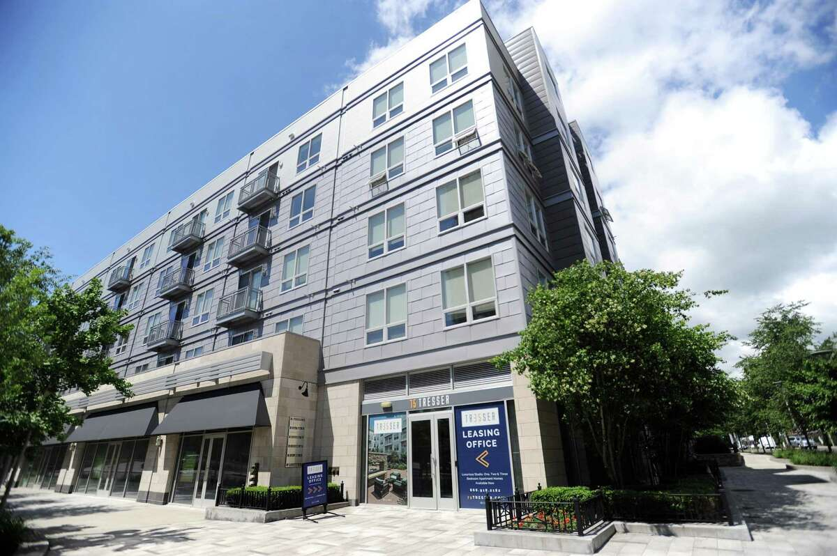 The apartment building 75 Tresser, located at 75 Tresser Blvd., is being considered for UConn Stamford student housing, UConn is seeking to lease 18-20 units and only 12 are currently available. Photographed in downtown Stamford, Conn. on Wednesday, June 6, 2018.