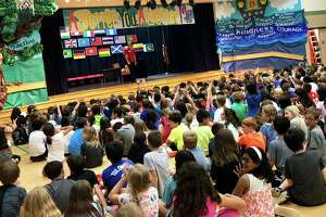 Buckalew Elementary students were able to celebrate the addition of new playground equipment at their school on Friday, May 25. The students were treated with Kona Ice and a magician.