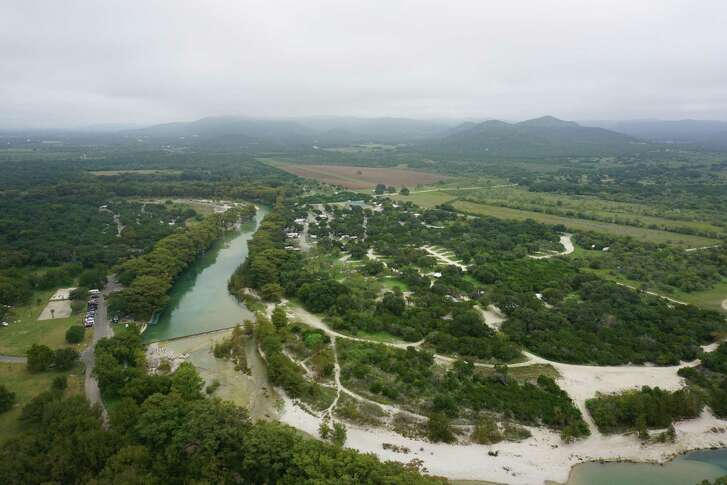 The view of the Frio River and Garner State Park from atop Old Baldy, the famous trail in the park. It's a short, but steep, hike.