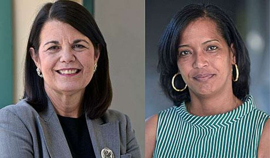 Mary Glassman and Jahana Hayes, Democratic candidates for Congress. Photo: H. John Voorhees III