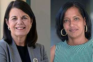 Mary Glassman and Jahana Hayes, Democratic candidates for Congress.