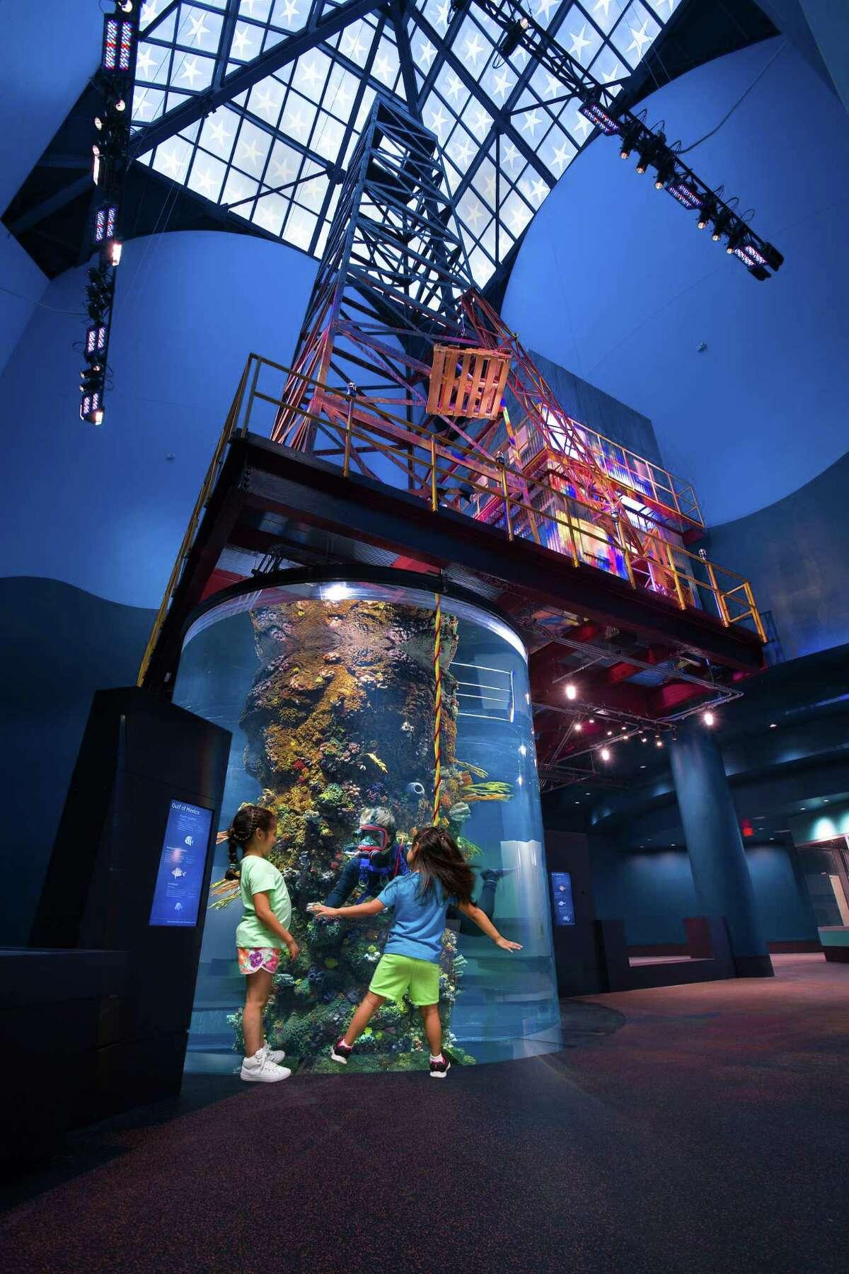 Texas Oil Derick Aquarium inside Moody Gardens