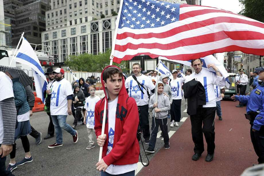 Participants during the annual Celebrate Israel Parade, honoring the 70th anniversary of the founding of Israel, in New York, June 3, 2018. Photo: MICHELLE V. AGINS, STF / NYT / NYTNS