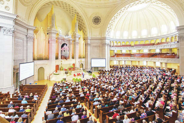Church members gathered Monday at the denomination's First Church of Christ, Scientist in Boston, as well as via live video streaming around the world, to hear and share experiences that they said showed how powerful prayer rooted in love can be in people's lives and the progress and healing this can bring in a troubled world.