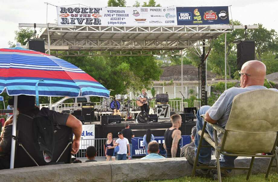 Margo Macero performs during a Rockin' on the River free outdoor concert at Riverfront Park on Wednesday, June 6, 2018 in Troy, N.Y. Macero opened up for Moriah Formica. (Lori Van Buren/Times Union) Photo: Lori Van Buren / 20043889A