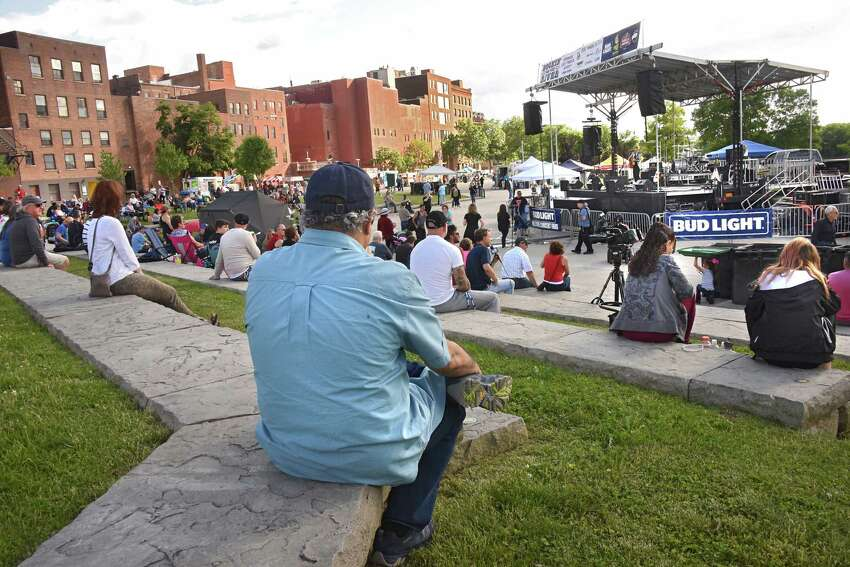 Margo Macero performs during a Rockin' on the River free outdoor concert at Riverfront Park on Wednesday, June 6, 2018 in Troy, N.Y. Macero opened up for Moriah Formica. (Lori Van Buren/Times Union)