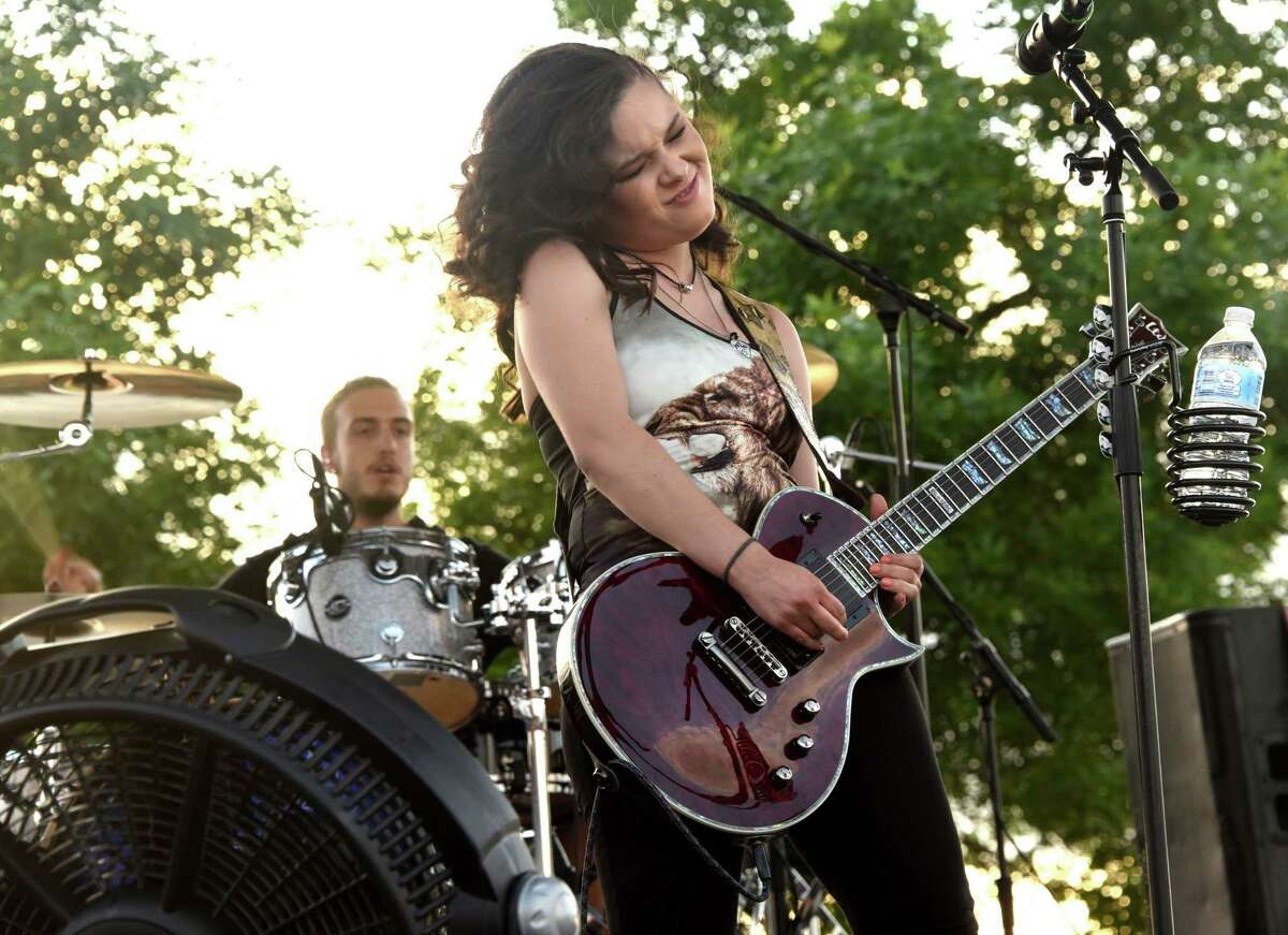 Moriah Formica performs during a Rockin' on the River free outdoor concert at Riverfront Park on Wednesday, June 6, 2018 in Troy, N.Y. Formica rose to fame as a member of Miley Cyrus's team on the thirteenth season of NBC's The Voice. (Lori Van Buren/Times Union)
