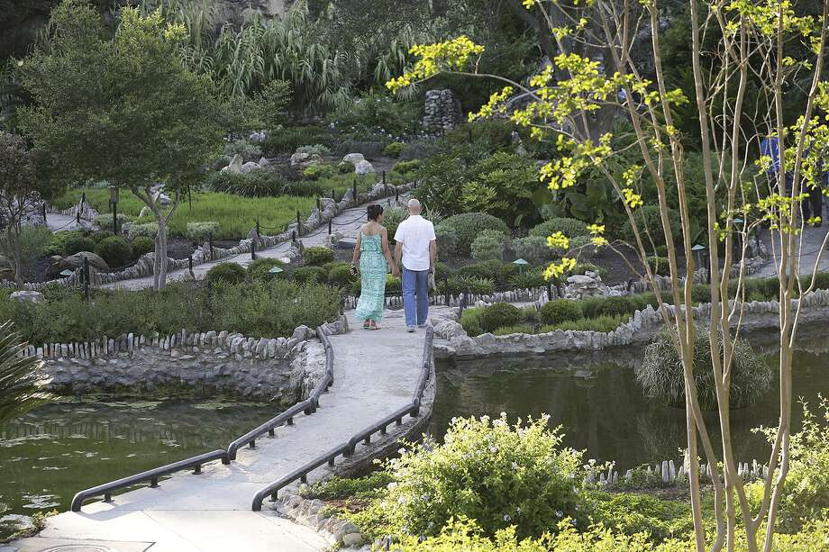 Japanese Tea Garden: Between the waterfall and the lush year-around garden, this location is a top contender when looking for a romantic setting. Open year-around from 7 a.m. to 5 p.m.; (210) 212-4814; saparksfoundation.org.  Photo: Tom Reel /San Antonio Express-News
