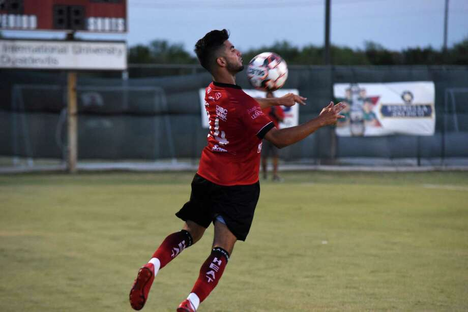 Ziyad Fares scored his third goal of the season in Laredo's 2-0 victory over Houston Dutch Lions FC Wednesday night at TAMIU's Dustdevil Field. Photo: Christian Alejandro Ocampo /Laredo Morning Times / Laredo Morning Times