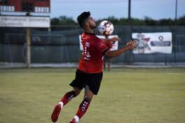 Ziyad Fares scored his third goal of the season in Laredo's 2-0 victory over Houston Dutch Lions FC Wednesday night at TAMIU's Dustdevil Field.