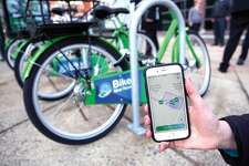 Bike New Haven uses a mobile app which allows users to find and rent bicycles from locations around the city. The program began in February with 17 bike stations.