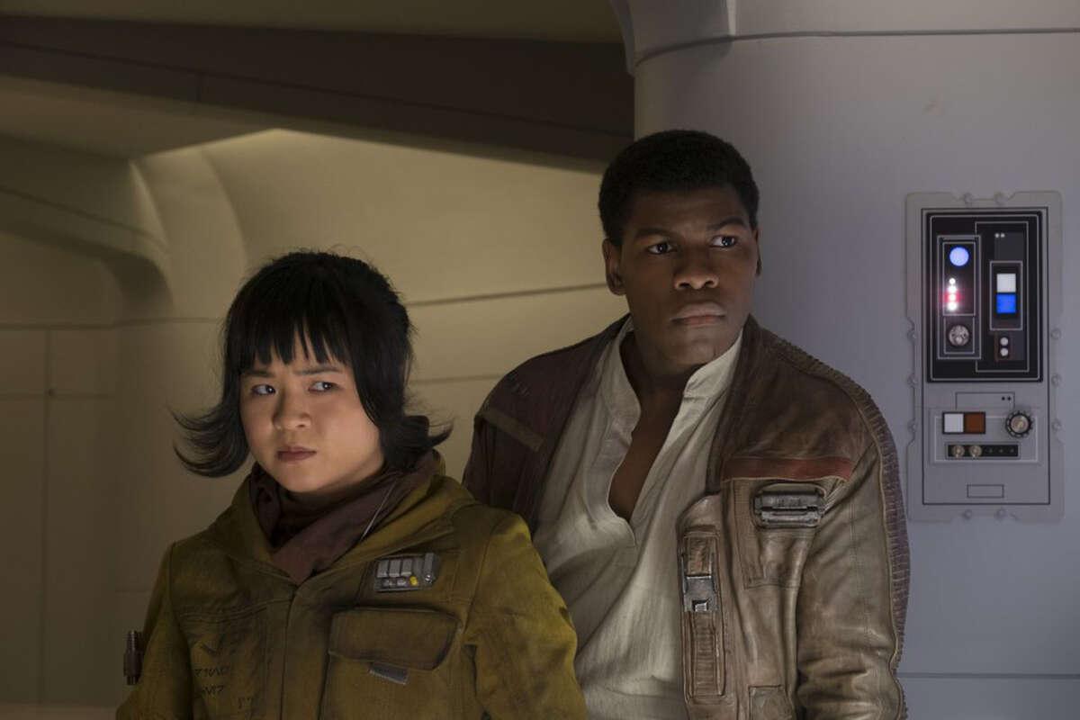 "Kelly Marie Tran (playing Rose Tico) starred opposite John Boyega (as would-be love interest Finn) in ""Star Wars: The Last Jedi."""