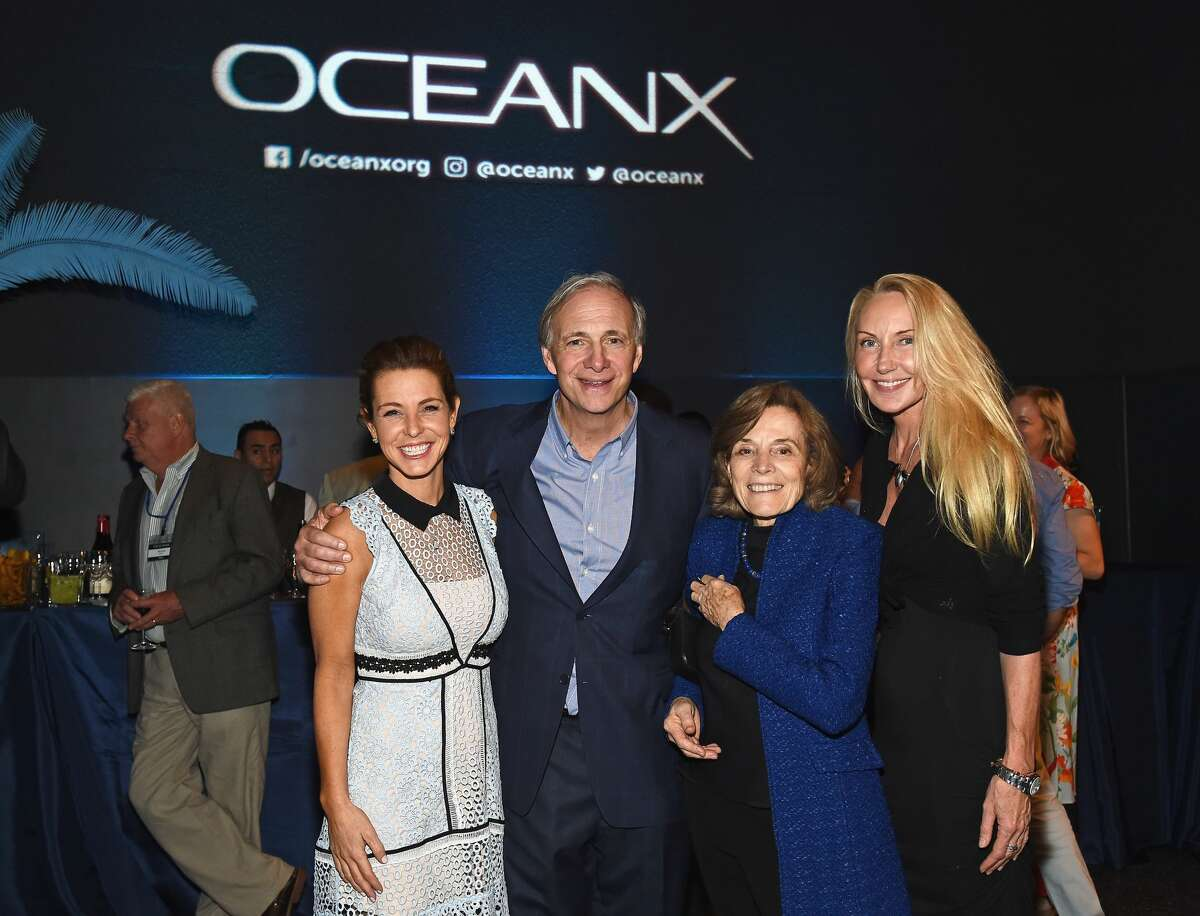 (L-R) Stephanie Ruhle, OceanX Founder Ray Dalio, Conservationist and author Sylvia Earle, and Shari Sant Plummer attend the Launch Of OceanX, a bold new initiative for ocean exploration, at the American Museum of Natural History on June 4, 2018 in New York City. (Photo by Ilya S. Savenok/Getty Images for OceanX)