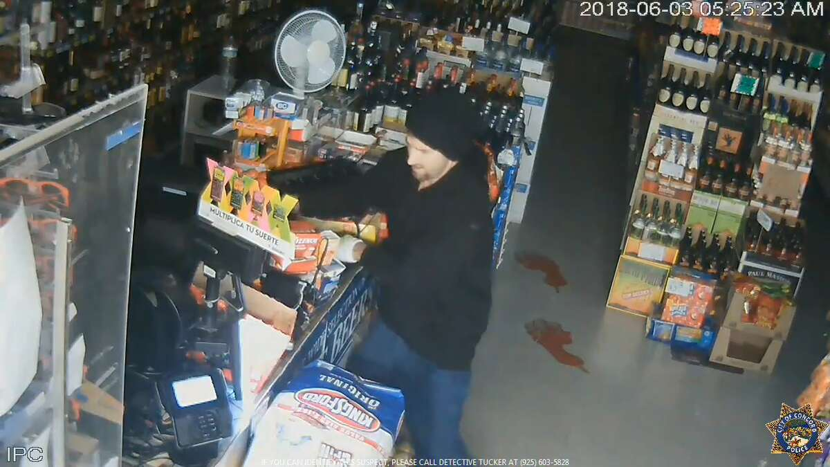 Concord Police are seeking to identify this man who broke into a convenience store and stole nearly $5,000 in lottery tickets.