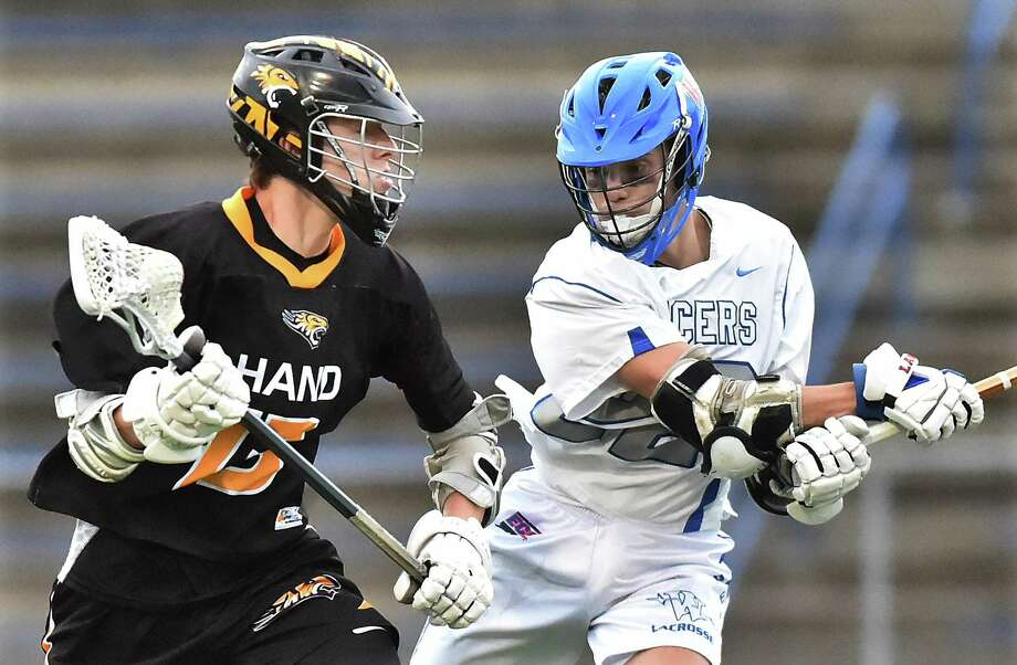Hand defeats Waterford, 15-5, in the CIAC Class M semifinal lacrosse game, Wednesday, June 6, 2018, at Ken Strong Stadium at West Haven High School. Photo: Catherine Avalone / Hearst Connecticut Media / New Haven Register