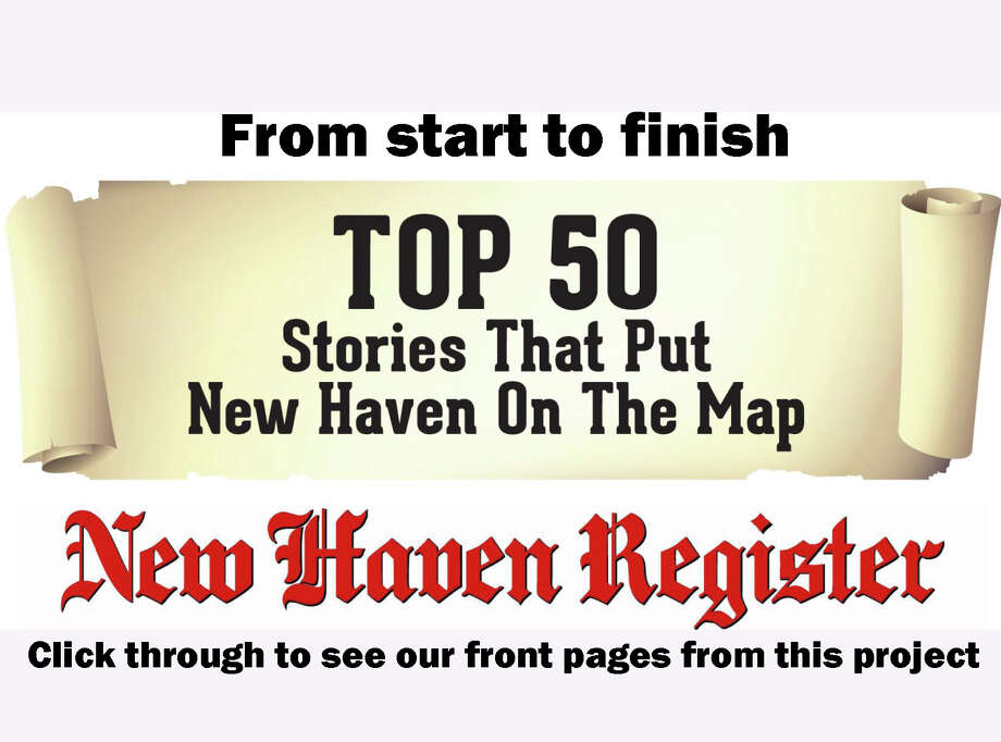 >>Click through slideshow to see the front pages from the New Haven Register Top 50 project. Photo: New Haven Register Designers