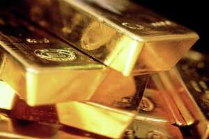This is an undated handout photograph of bars of Gold bullion released to the media on Thursday, Jan. 3, 2008. Texas opened its first bullion depository Wednesday, June 6, 2018. The Texas facility will store gold, silver, platinum, palladium and rhodium. Source: World Gold Council via Bloomberg News.