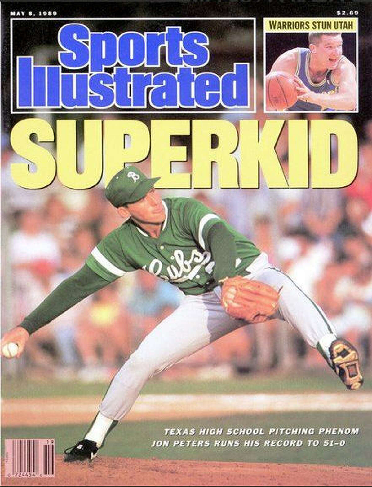Jon Peters was featured on the cover of Sports Illustrated's May 8, 1989 issue after running his record at Brenham High School to 51-0.