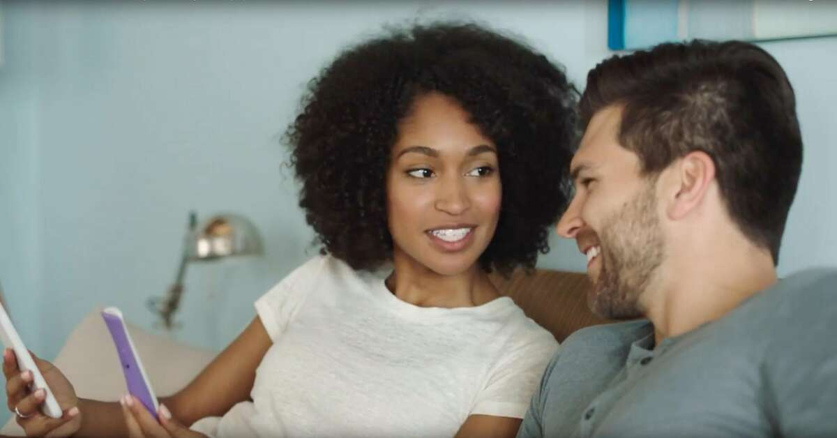 In an undated handout image, a screen grab from a video where a young interracial couple is portrayed using the Clearblue ovulation test system. A few years ago, Cheerios was the subject of racist vitriol online after showing a multiracial family in an ad. Now more companies are showing these relationships as a way of signifying their values. (Handout via The New York Times) -- NO SALES; FOR EDITORIAL USE ONLY WITH NYT STORY ADS MULTIRACIAL HOUSEHOLDS BY JOANNE KAUFMAN FOR JUNE 4, 2018. ALL OTHER USE PROHIBITED. --