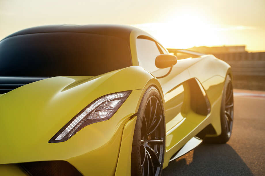 The Venom F5 was a collaboration between Shell, Pennzoil and Hennessey, designed to be the fastest car on the planet. It carries inside it a twin turbo V8 engine and the vehicle's carbon fiber body keeps its weight down to just under 3,000 pounds. Photo: Hennessey