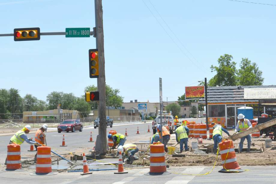 TxDOT's $2.8 million project to add or upgrade ramps along SH 194 (Quincy Street), Business I-27 (Columbia Street), FM 400 (Date Street), US 70 (Fifth Street/Olton Road) and FM 3466 began last fall. Photo: Doug McDonough/Plainview Herald