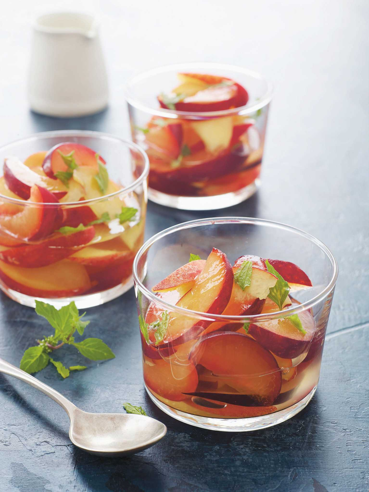 Recipe: Stone Fruit with Ginger-Lime Syrup & Fresh Mint ...