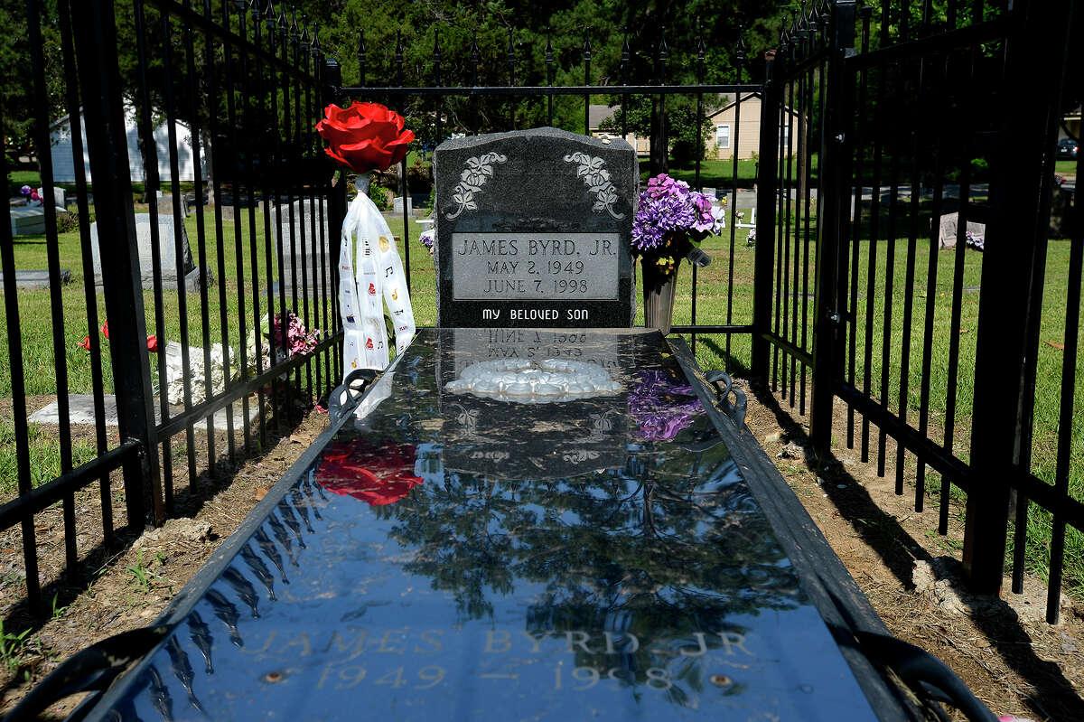 The grave of James Byrd Jr. at the Jasper City Cemetery on the 20th anniversary of his murder. Photo taken Thursday 6/7/18 Ryan Pelham/The Enterprise