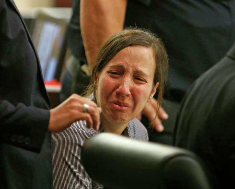 Andira Abdelaziz breaks down after the guilty verdict in the murder trial of Andira Abdelaziz, 37, who killed her 25-year-old nephew, with whom she was having an affair on was found guilty on Thursday, June 7,2018. / 2018 Ronald Cortes