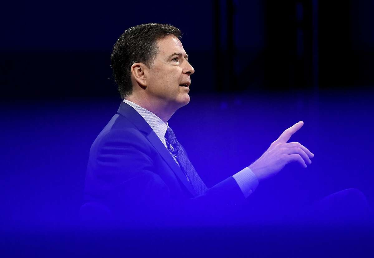 Former FBI director James Comey speaks during the Canada 2020 Conference in Ottawa, Ontario, Tuesday, June 5, 2018. (Justin Tang/The Canadian Press via AP)