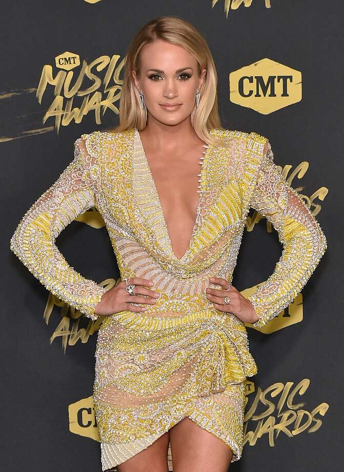 Carrie Underwood attends the 2018 CMT Music Awards at Bridgestone Arena on June 6, 2018 in Nashville, Tennessee. On Wednesday she announced a new tour with a San Antonio date in 2019. Photo: Mike Coppola, Getty Images For CMT