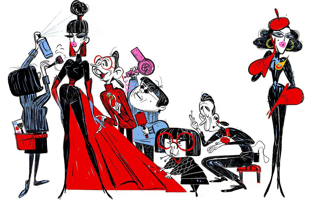 """Character fashion art from the new Pixar film """"The Incredibles 2"""""""