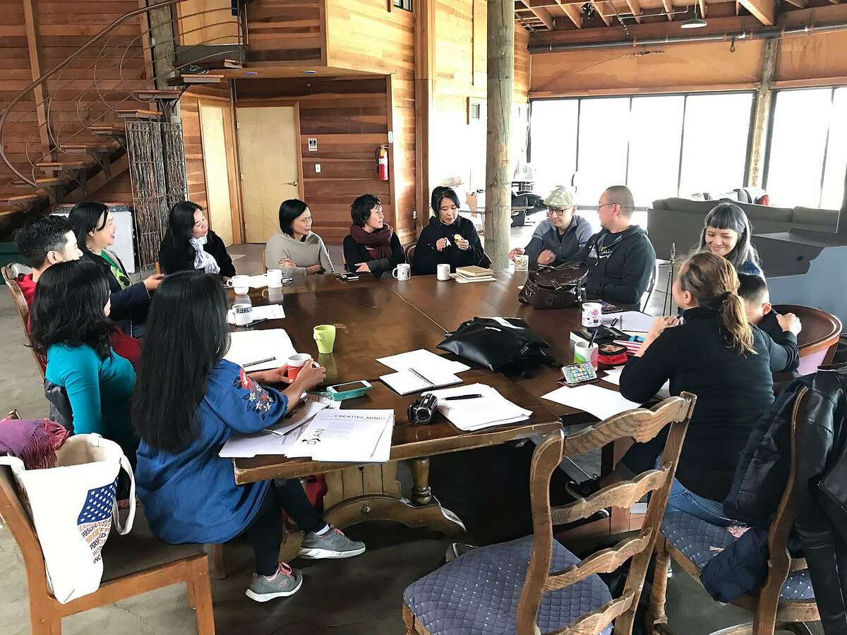 Writers gather at the Djerassi Resident Artists Program.