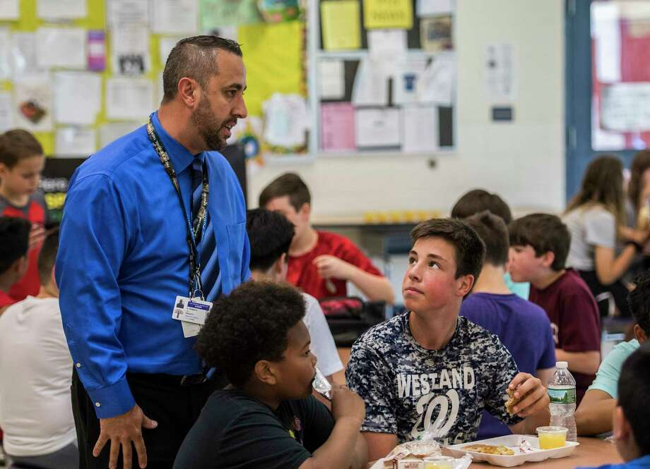 Principal Gabe Barbato at the Eagle Point Elementary School Wednesday May 23, 2018 in Albany, N.Y.  (Skip Dickstein/Times Union) Photo: SKIP DICKSTEIN / 20043800A