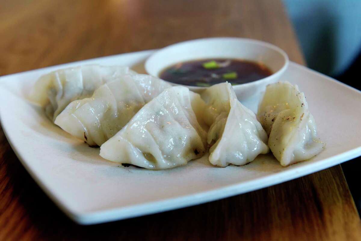A view of pork and chicken gyoza at The Little Rice Ball, located at 6 Franklin Place, seen here on Wednesday, May 30, 2018, in Troy, N.Y. (Paul Buckowski/Times Union)