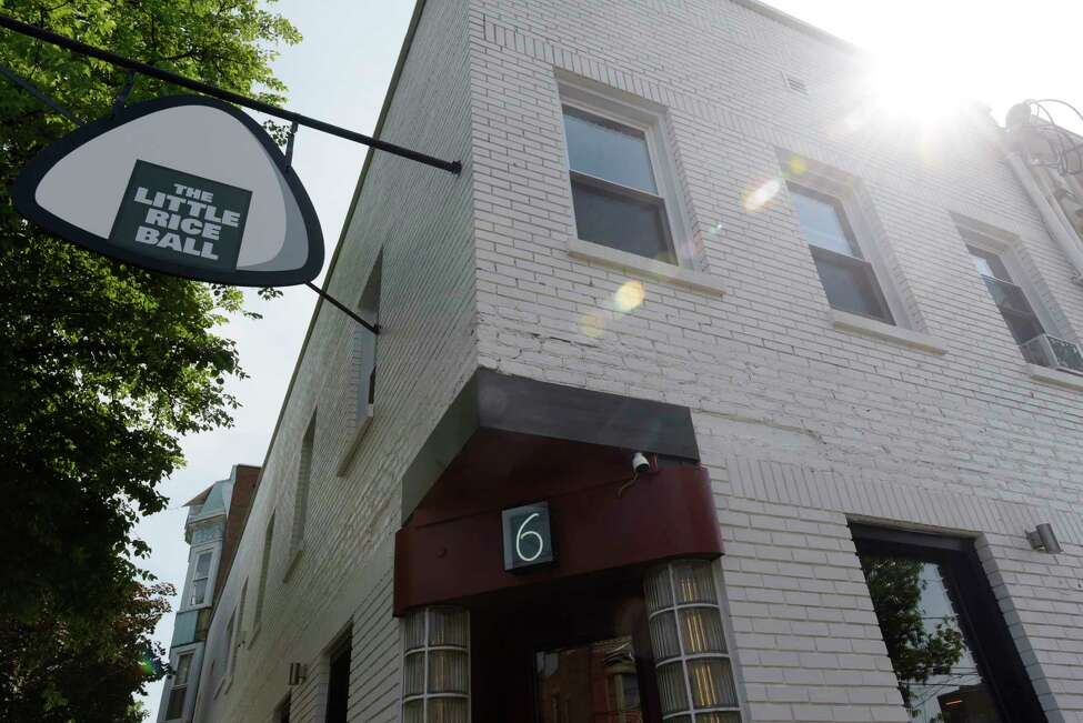 A view of the outside of The Little Rice Ball, located at 6 Franklin Place, seen here on Wednesday, May 30, 2018, in Troy, N.Y. (Paul Buckowski/Times Union)
