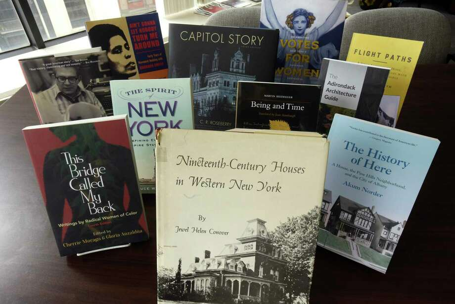 A view of some of the books that have been published by SUNY Press seen here at the SUNY Press offices on Thursday, May 31, 2018, in Albany, N.Y.   (Paul Buckowski/Times Union) Photo: Paul Buckowski / (Paul Buckowski/Times Union)