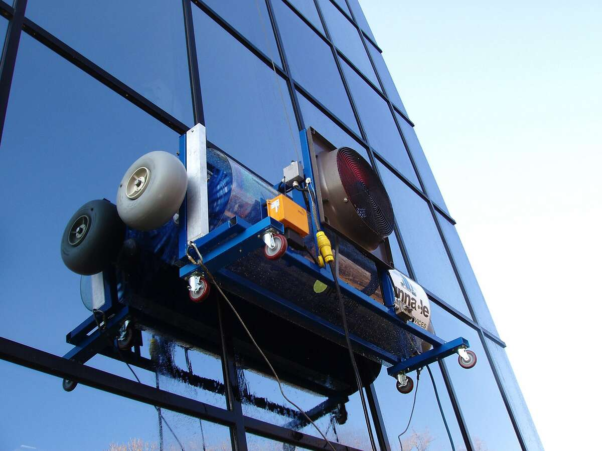 The HighRise Professional Window Cleaning System, made by IPC Eagle, is a machine that cleans high-rise glass buildings faster than humans.