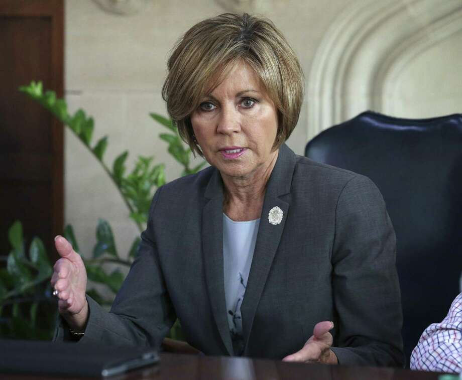 City Manager Sheryl Sculley has long been a lightning rod for criticism. The fire union hopes that frustration will trump any reasoning among residents voting on charter changes. Photo: Tom Reel / San Antonio Express-News / 2017 SAN ANTONIO EXPRESS-NEWS