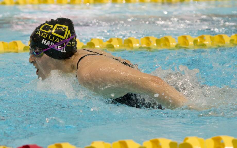 Olivia Haskell swims the butterfly leg of the medley relay 06/07/18 at the Frost Bank West Texas Invitational swim meet in COM. Tim Fischer/Reporter-Telegram Photo: Tim Fischer/Midland Reporter-Telegram